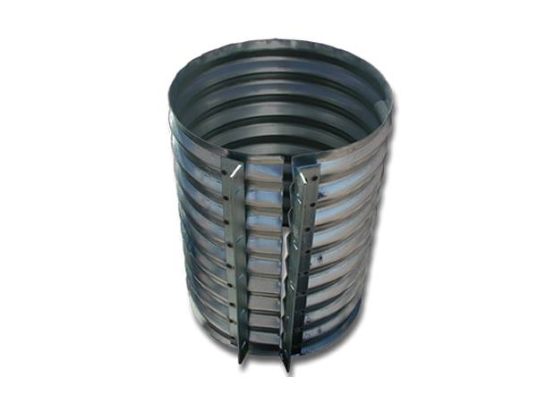 A galvanized one-piece pipe joint in annular corrugated style.