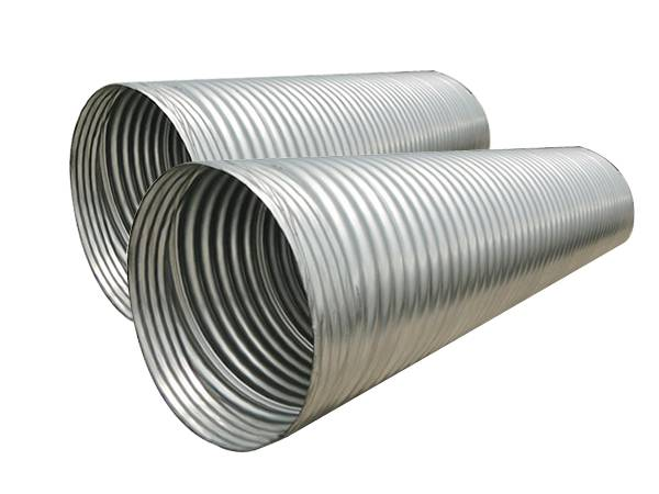 Two galvanized spiral corrugated steel pipes with standard re-corrugated standard ends.  sc 1 st  Corrugated Metal Pipes for Culverts and Sewers & Spiral Corrugated Pipe - 12u201d to 144u201d in Diameter